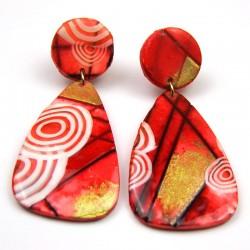 Boucles d'oreilles Katie rouge