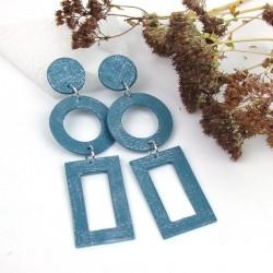 Boucles d'oreilles XL bleu...