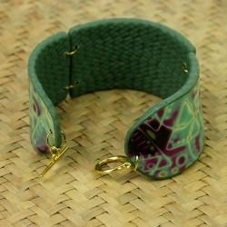 Bracelet Fougère en argile polymère