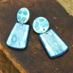 Boucles d'oreilles Pastel bleu